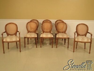 L29233E:Set Of 8 French XV Style Cane Back Dining Room Chairs