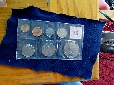New Zealand 1969 Ordinary Uncirculated 7 Coin Set Sealed Sleeve