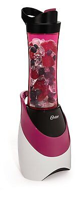 Oster BLSTPB-WPK My Blend 250-Watt Blender with Travel Sport Bottle, Pink, New