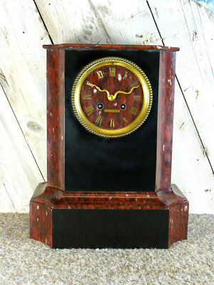 French Henry Marc Slate Mantel Clock
