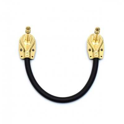 Guitar Patch Lead 6.35mm Pancake Angled Jack / Effects Pedal FX Instrument Cable