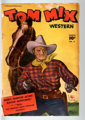 Tom Mix Comics #3-1948-B Western Movie Comic Book-Photo Cover-Fawcett Pubs  G-