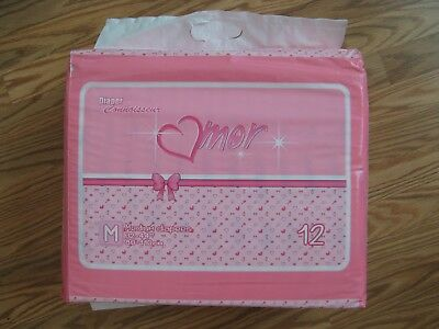 DC Amor - Medium Pink Plastic Adult Baby Diapers. 2015 Edition Puppies & Kittens
