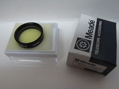 "1.25"" Meade LT Yellow #8 Telescope Eyepiece Filter Series 4000 Glass Coated New!"