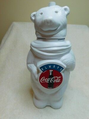 """""""Always"""" Coca Cola Bear Plastic drinking container,Excellent condition, no straw"""