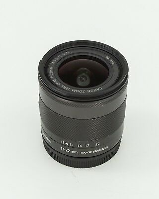 Canon EF-M 11-22mm f/4-5.6 STM Lens for M Series Cameras in Nice Condition