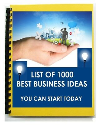 1000 Business Ideas - Work From Home - Online Offline Trading Business For Sale