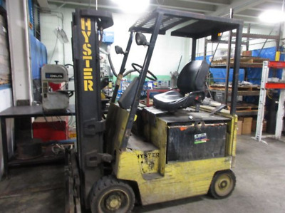 """Working Hyster E50XL-33 Electric Forklift, 5000#, 187"""", 5000 Hours, No Charger"""