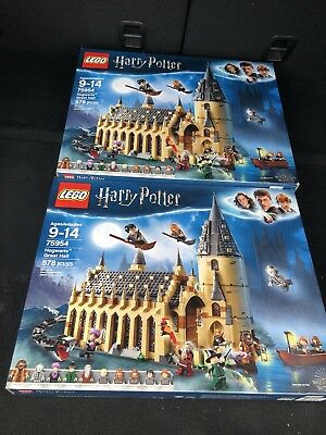 LEGO 75954 Harry Potter Hogwarts Great Hall Wizarding World New 2018 878 pieces