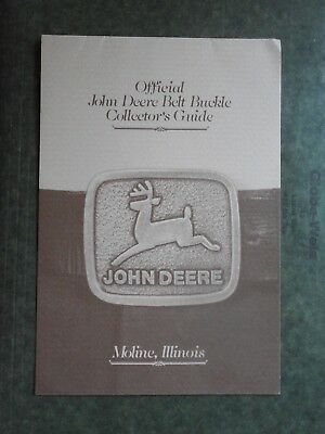 John Deere Belt Buckle Collectors Guide c-1983