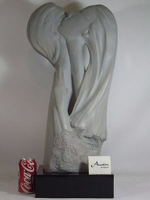 "HUGE 29"" Austin Productions Sculpture 1985 FACES OF LOVE Male Women Bust Lovers"