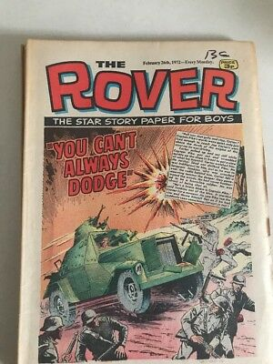 The Rover Comic The Star Story Paper For Boys 1972 X 7 Comics