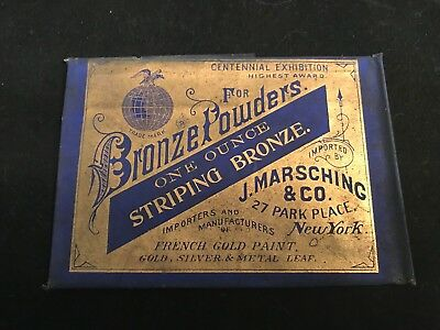 Vintage/Antique Bronze Powder Imported by J. Marsching & Co Advertising (AA8)