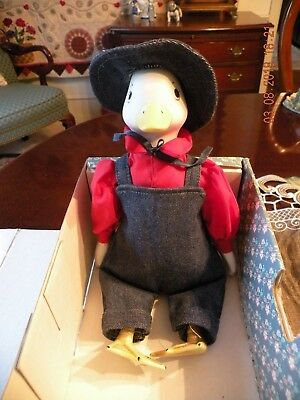 Country Kins Porcelain Daniel Duck Doll #1658 - NIB - by Russ with Tags Orig Box