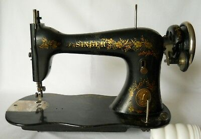 1886 Singer Improved Family Treadle Sewing Machine Fiddle Base W/Attachments N/R