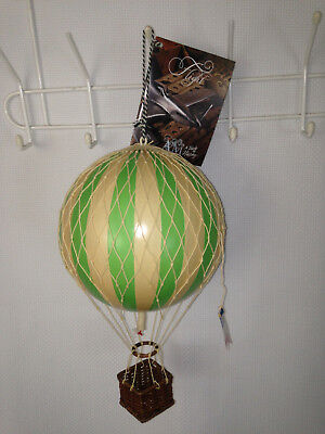 Authentic Models Floating the Skies Green and Beige Balloon Model