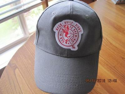 BEER BUILT RIGHT Old Milwaulkee Brewing Beer Baseball Ball Cap Snap Back Grey