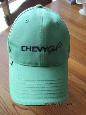 CHEVY GIRL Lime Green /w Black Lettering Baseball Ball Cap Strap Back FW China