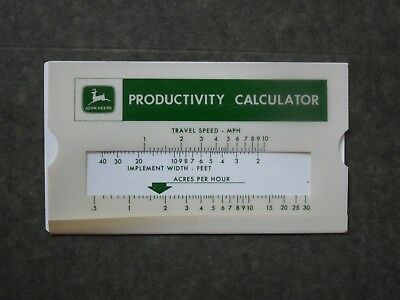John Deere  Slide Rule Type Production Calculator