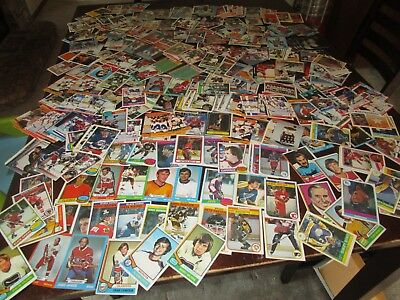 Huge Lot Of Vintage Hockey Cards 1970S To 1980S Stars Rookie More