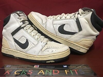 9d1796fd3a1608 VTG OG 1987 Nike Air Force 2 Basketball Shoes Size 9 Made In Taiwan Rare  Gray