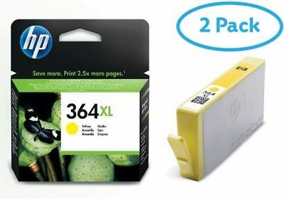 2 Packs of HP CB325EE No.364Xl Ink Yellow