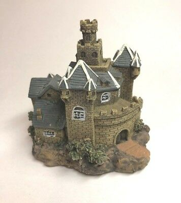 Medieval Castle Fortress Kingdom Miniature Display Stand Figurine Statue Gothic