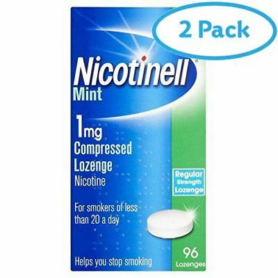 2 Packs of Nicotinell Mint 1mg Compressed Lozenges 96 Lozenges | AMAZON BANNED