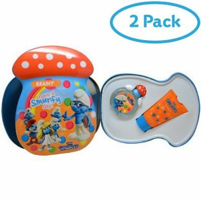 2 Packs of The Smurfs Brainy Gift Set 50ml EDT + 75ml Bubble Bath