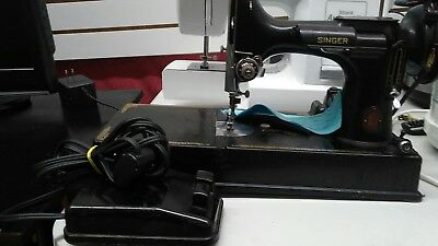 Antique singer table top sewing machine