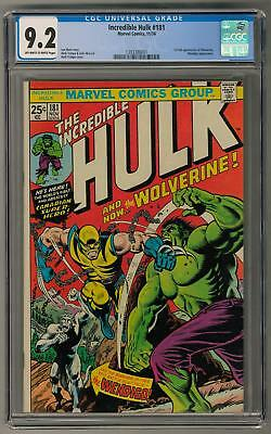 Incredible Hulk #181 CGC 9.2 (OW-W) 1st Wolverine Appearance