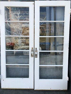 """Old  French Doors 78 1/2 X 30"""" Each 60 Inch Total"""