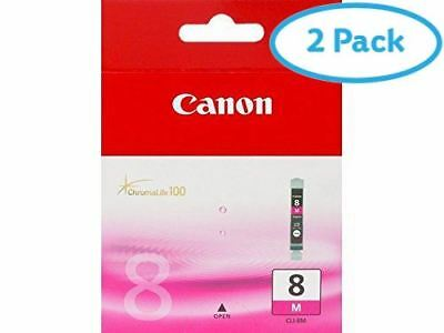 2 Packs of Canon Ink Cartridge Magenta CLI-8M - Each