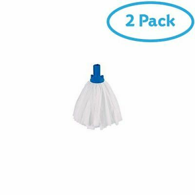 2 Packs of Big White Exel Non-Woven Mop Blue