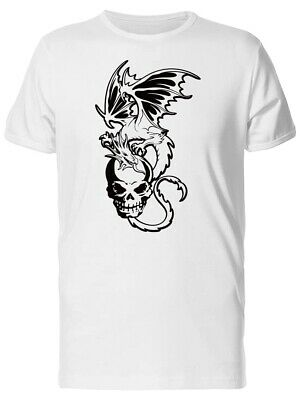 Dragon With Wings On A Skull Men's Tee -Image by Shutterstock