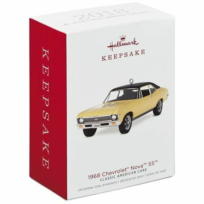 Hallmark 2018 1968 Chevrolet Nova SS Classic Car Series Christmas Ornament