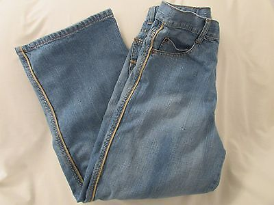 """Men's """"SOLO"""" Size 30, Md Blue, Light Distressed, Piping Trim, Straight Leg Jeans"""