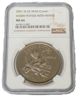 2001 HARRY POTTER NGC MS 66 obverse