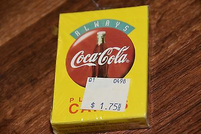 1994 Brand New Sealed Coca Cola Playing Cards yellow Coke 351