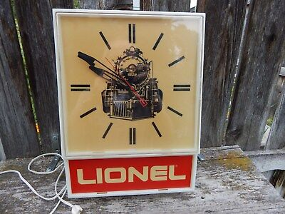 Lionel Train Lighted Clock With Great Graphics - Must See!