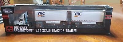 1/64 DCP DIECAST Promotions 33966 YRC Freight Cascadia W/Doubles Internal