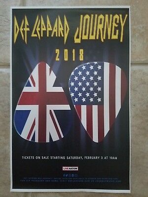 Def Leppard Journey 2018 11x17 promo tour  concert poster tickets cd
