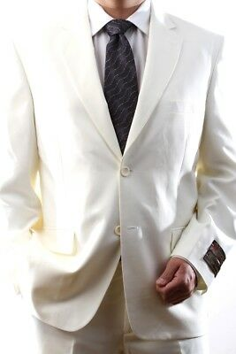 Mens Single Breasted 2 Button Off White Dress Suit, Pl-60212N-211-Owh