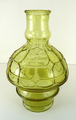 Wheaton Glass Company Green Ornate Cathedral Pattern Window Bottle 6""