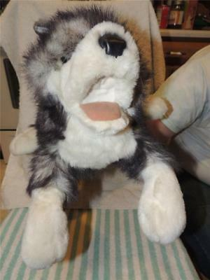 "Folktails Timber Wolf Hand Puppet 18"" Folkmanis Plush Toy Movable Mouth"