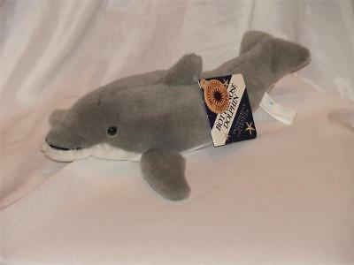 """Bottlenose Dolphin Smithsonian Oceanic Collection Plush Stuffed All Tags1989 14"""""""
