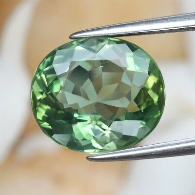 4.56ct 11x9.8mm Oval Natural Unheated Green Apatite, Brazil