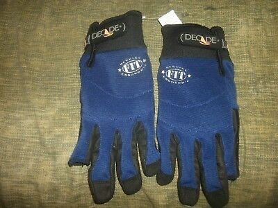 Decade 49942 size M Ergonomic FIT System Half Thumb & First-Finger Gloves (B167)