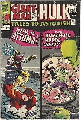 Tales To Astonish 64 February 1965 Hulk Giant-Man Leader 4.5 Vg+ No Reserve