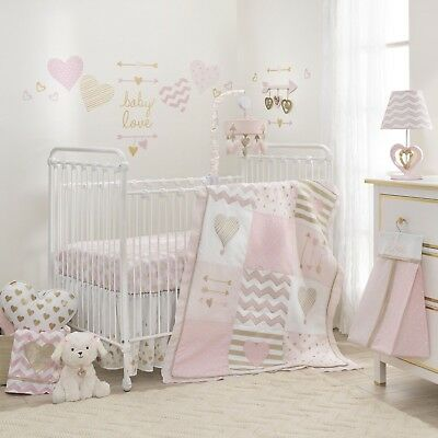 Lambs & Ivy Baby Love 4-Piece Crib Bedding Set